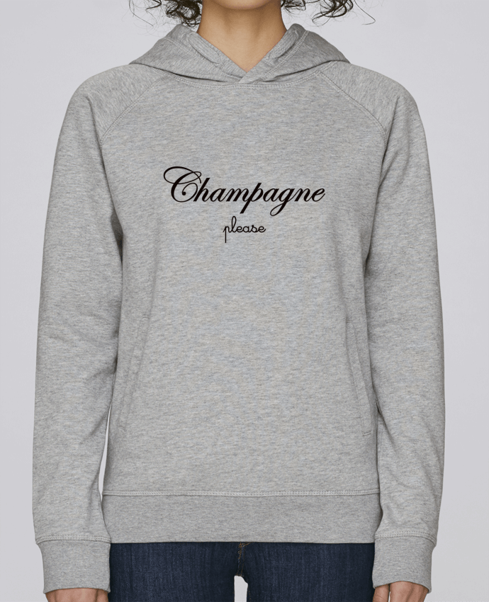Sudadera Hombre Capucha Stanley Base Champagne Please por Freeyourshirt.com