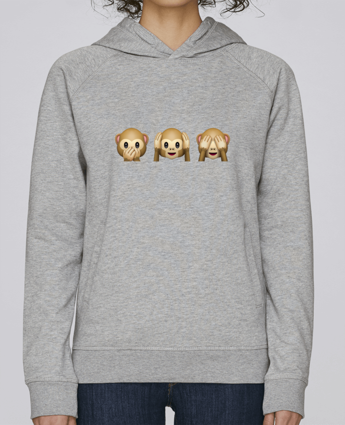 Sudadera Hombre Capucha Stanley Base Three monkeys por Bichette