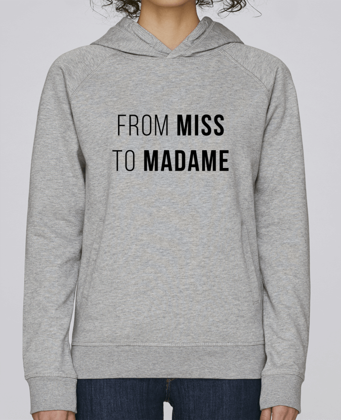 Sudadera Hombre Capucha Stanley Base From Miss to Madam por Bichette