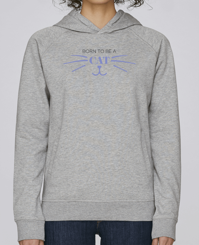 Sudadera Hombre Capucha Stanley Base Born to be a cat por tunetoo