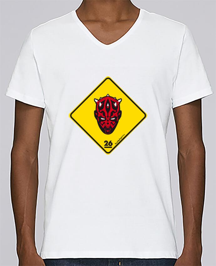 Camiseta Hombre Cuello en V Stanley Relaxes Darth Maul por Zorglub