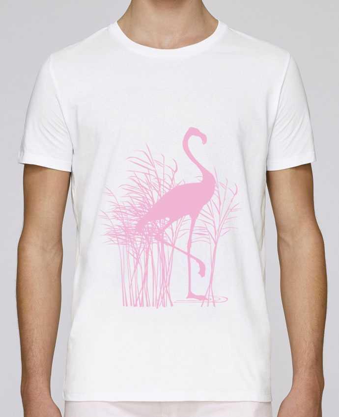 Camiseta Cuello Redondo Stanley Leads Flamant rose dans roseaux por Studiolupi