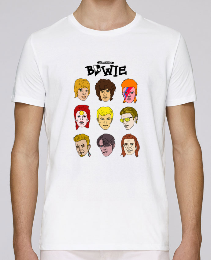 Camiseta Cuello Redondo Stanley Leads Bowie por Nick cocozza