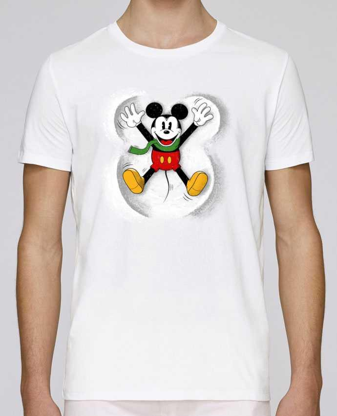 Camiseta Cuello Redondo Stanley Leads Mickey in snow por Florent Bodart