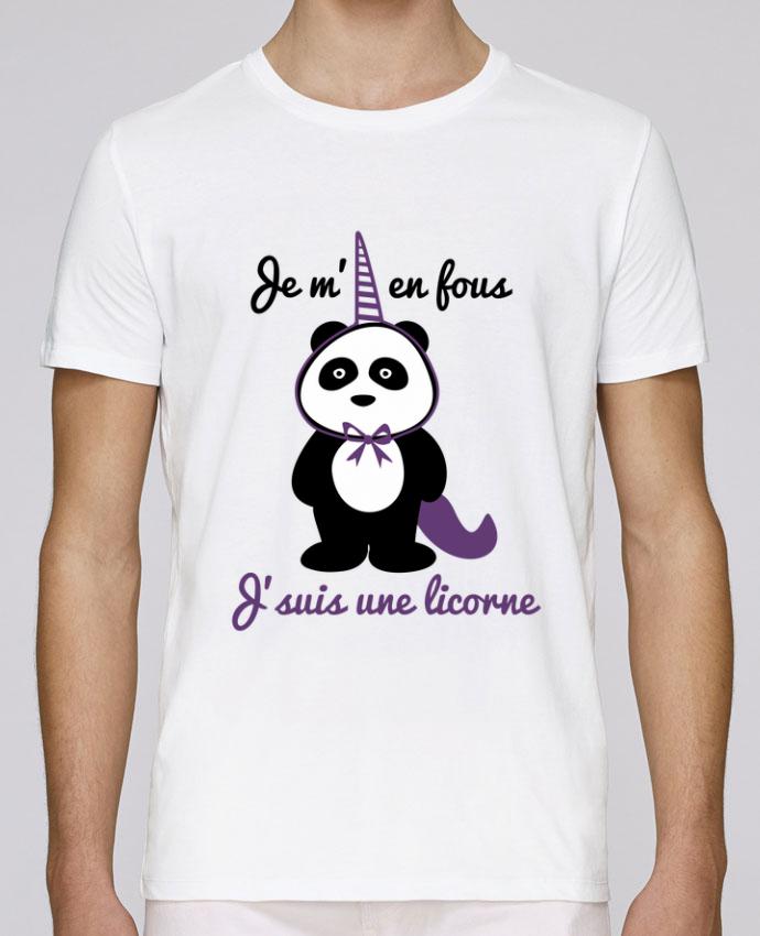 Camiseta Cuello Redondo Stanley Leads Je m'en fous j'suis une licorne, panda por Benichan