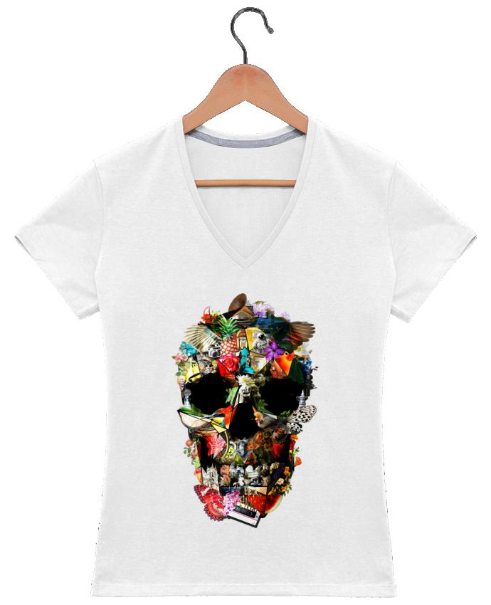 Camiseta Mujer Cuello en V Fragile por ali_gulec