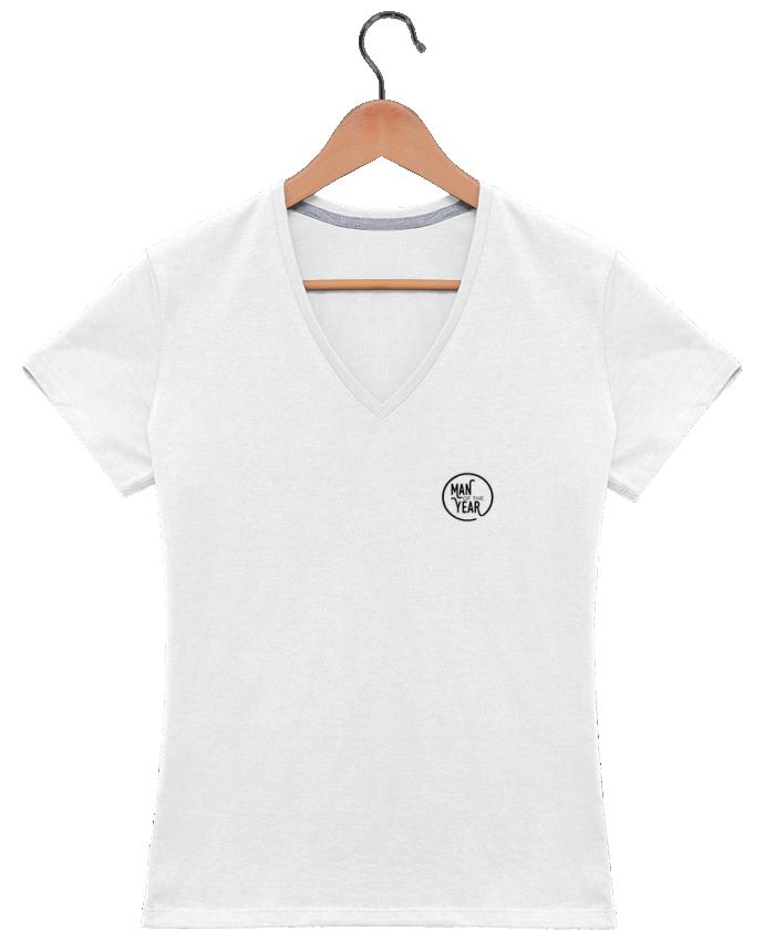 Camiseta Mujer Cuello en V Man of the year por tunetoo