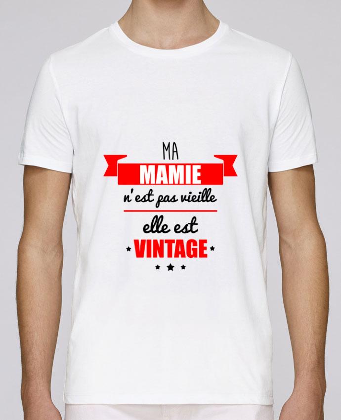 Camiseta Cuello Redondo Stanley Leads Ma mamie n'est pas vieille elle est vintage por Benichan