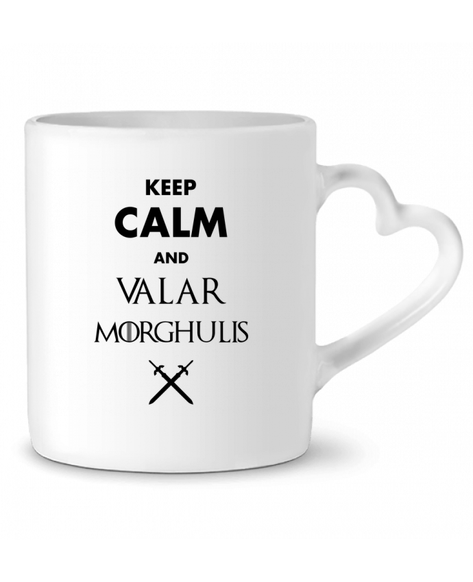 Taza Corazón Keep calm and Valar Morghulis por tunetoo