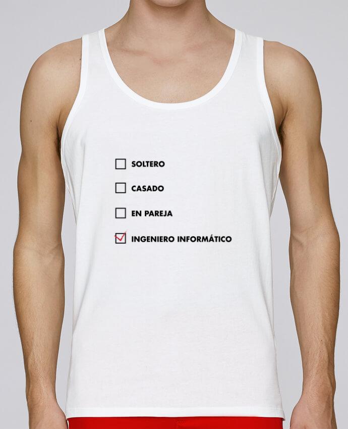 Camiseta de tirantes algodón orgánico hombre Stanley Runs Ingeniero informático por tunetoo 100% coton bio