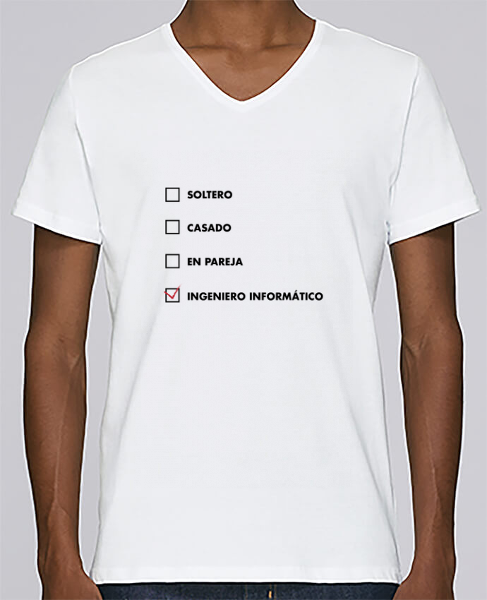 Camiseta Hombre Cuello en V Stanley Relaxes Ingeniero informático por tunetoo
