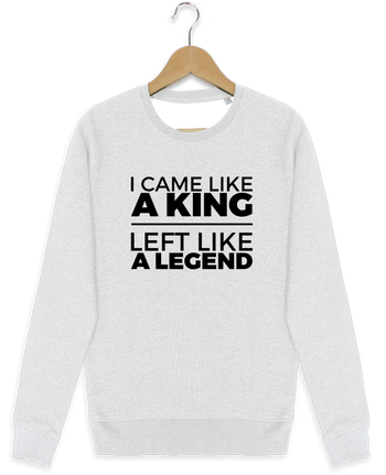 Sweat-shirt Stanley stella modèle seeks I came like a king II por tunetoo