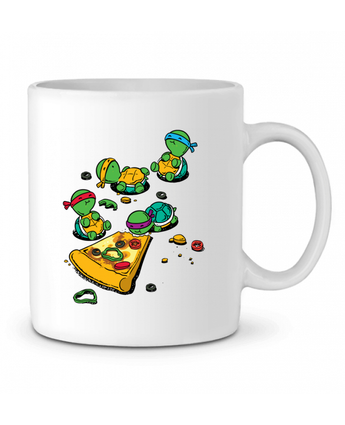 Taza Cerámica Pizza lover por flyingmouse365