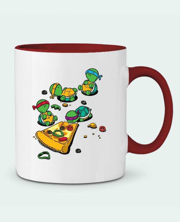 Taza Cerámica Bicolor Pizza lover flyingmouse365