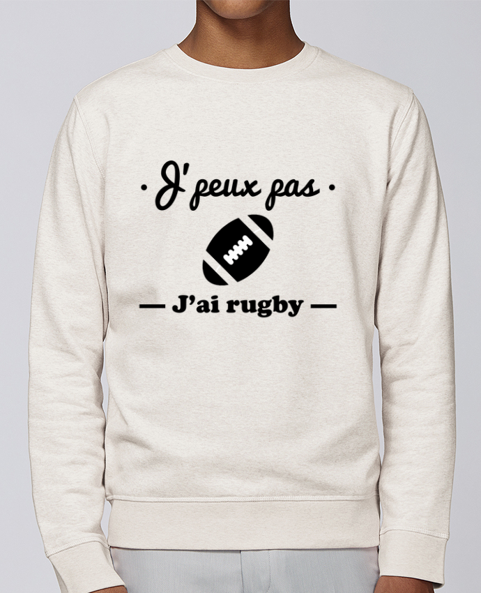 Sudadera básica manga pegada unisexo Stanley Stella Rise J'peux pas j'ai rugby por Benichan
