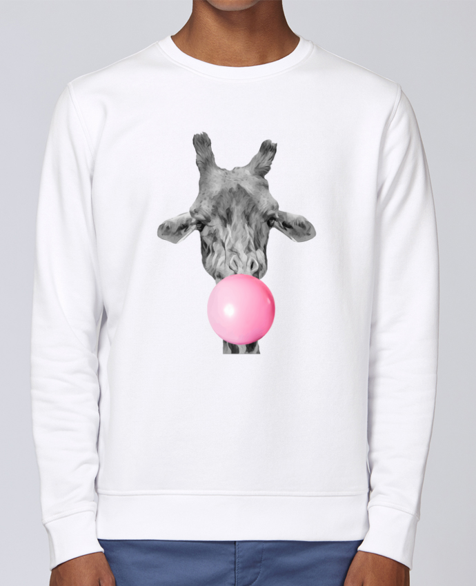 Sudadera básica manga pegada unisexo Stanley Stella Rise Girafe bulle por justsayin