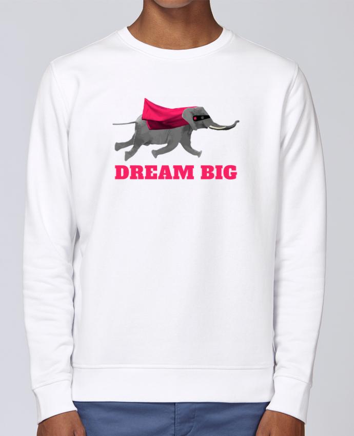 Sudadera básica manga pegada unisexo Stanley Stella Rise Dream big éléphant por justsayin
