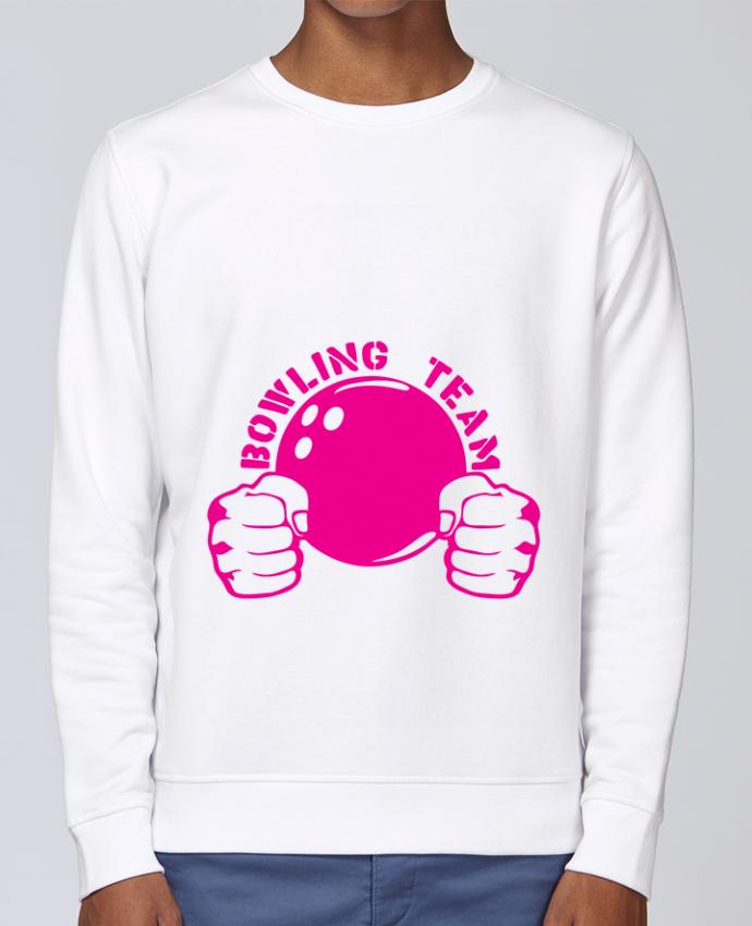 Sudadera básica manga pegada unisexo Stanley Stella Rise bowling team poing fermer logo club por Achille