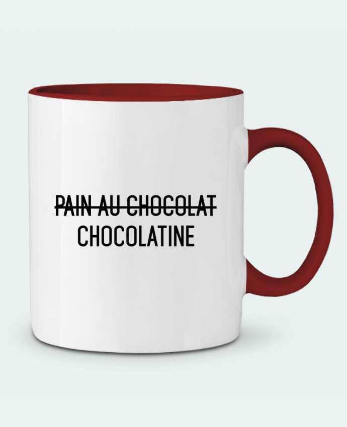 Taza Cerámica Bicolor Chocolatine tunetoo