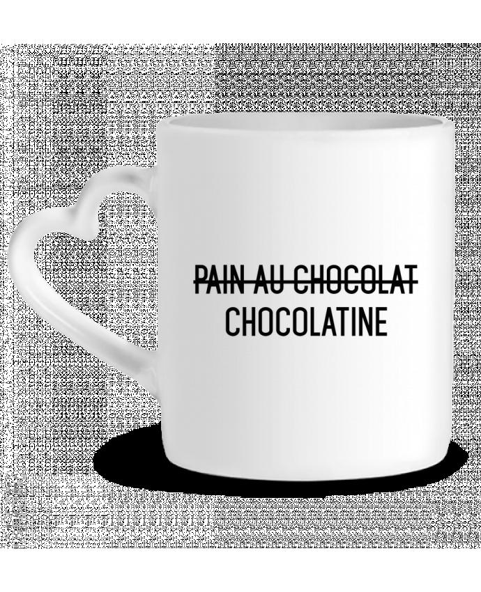 Taza Corazón Chocolatine por tunetoo