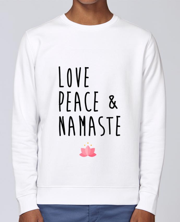 Sudadera básica manga pegada unisexo Stanley Stella Rise Love, Peace & Namaste por tunetoo