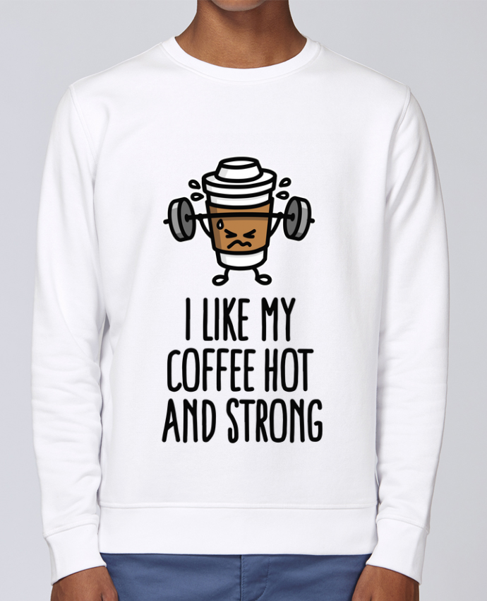 Sudadera básica manga pegada unisexo Stanley Stella Rise I like my coffee hot and strong por LaundryFactory