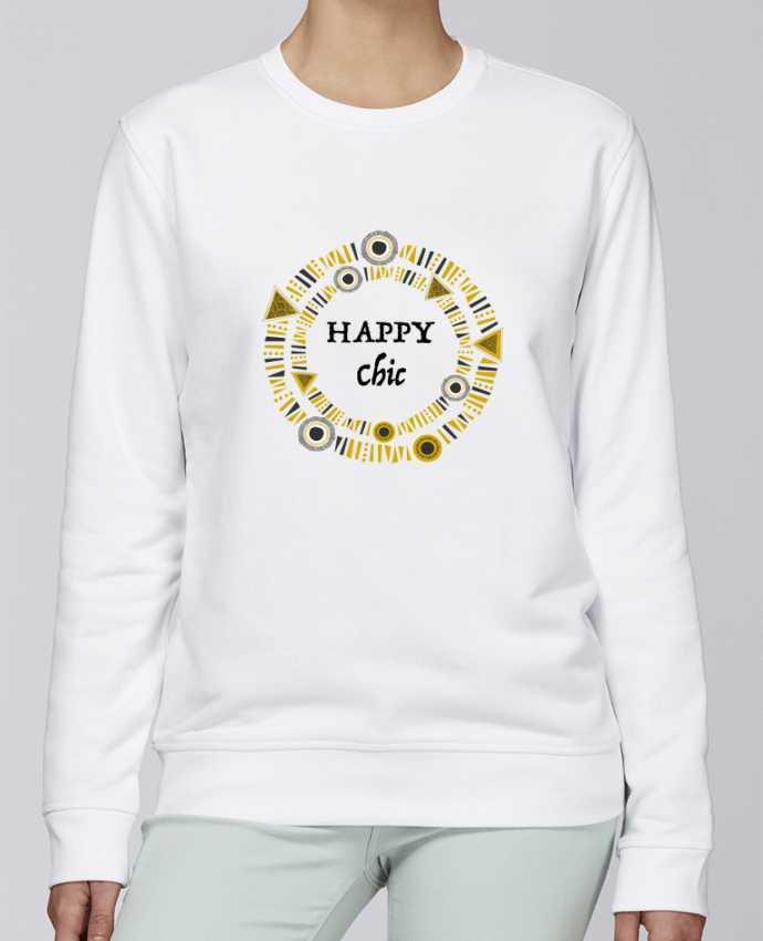 Sudadera básica manga pegada unisexo Stanley Stella Rise Happy Chic por LF Design