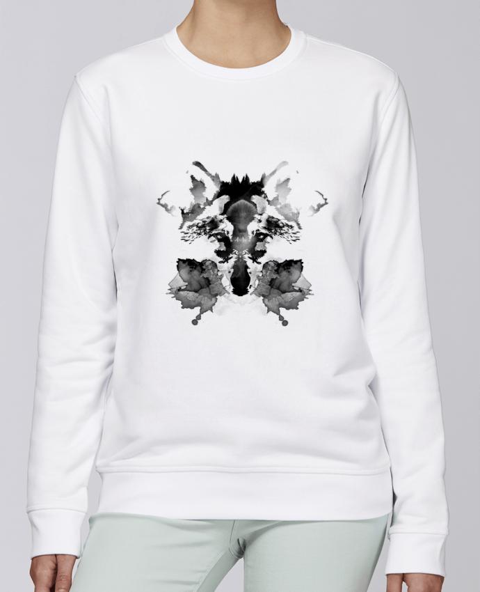 Sudadera básica manga pegada unisexo Stanley Stella Rise Rorschach por robertfarkas