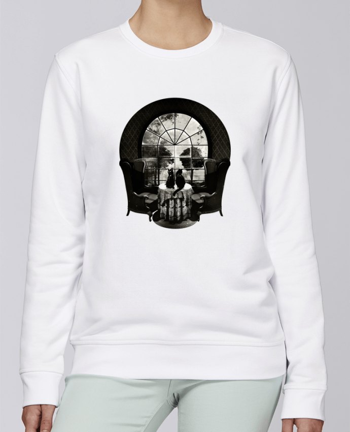 Sudadera básica manga pegada unisexo Stanley Stella Rise Room skull por ali_gulec