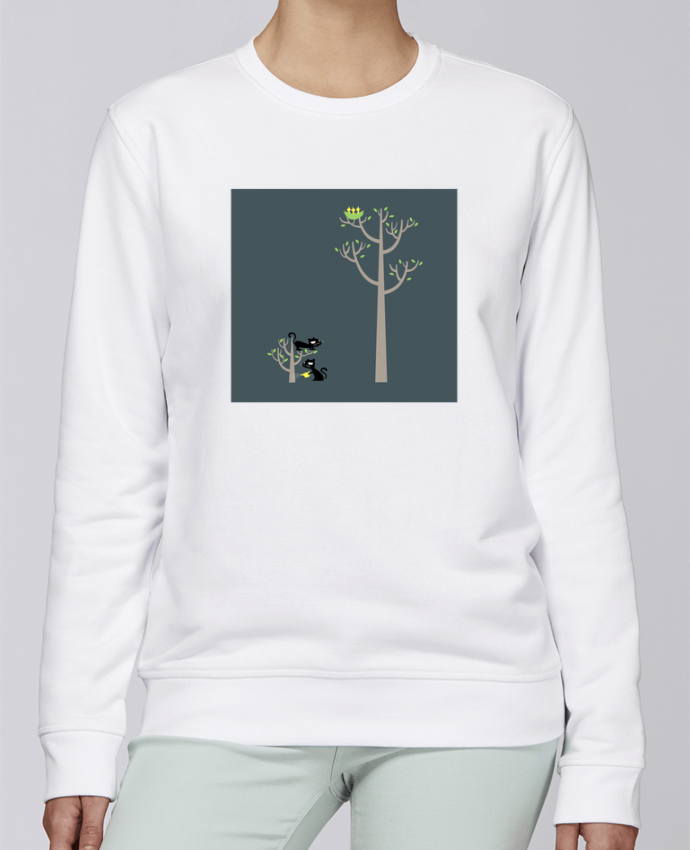 Sudadera básica manga pegada unisexo Stanley Stella Rise Growing a plant for Lunch por flyingmouse365