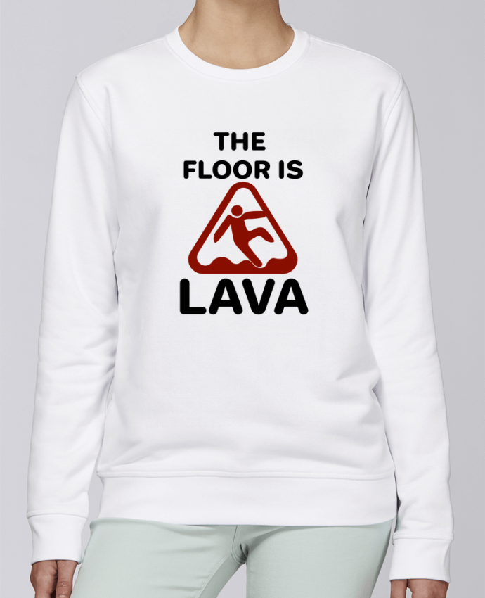 Sudadera básica manga pegada unisexo Stanley Stella Rise The floor is lava por tunetoo