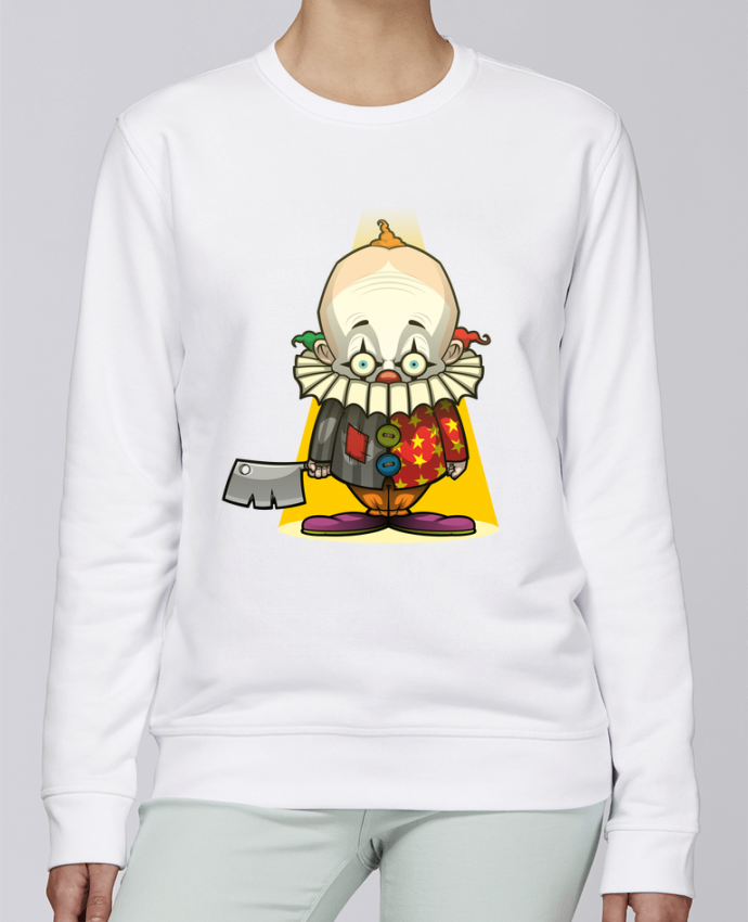 Sudadera básica manga pegada unisexo Stanley Stella Rise Choppy Clown por SirCostas