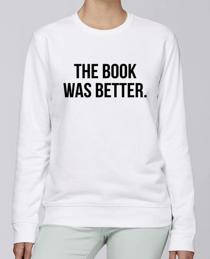 Sudadera básica manga pegada unisexo Stanley Stella Rise The book was better. por Bichette