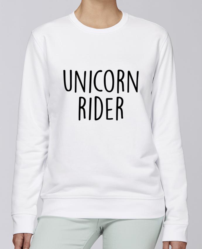 Sudadera básica manga pegada unisexo Stanley Stella Rise Unicorn rider por Bichette