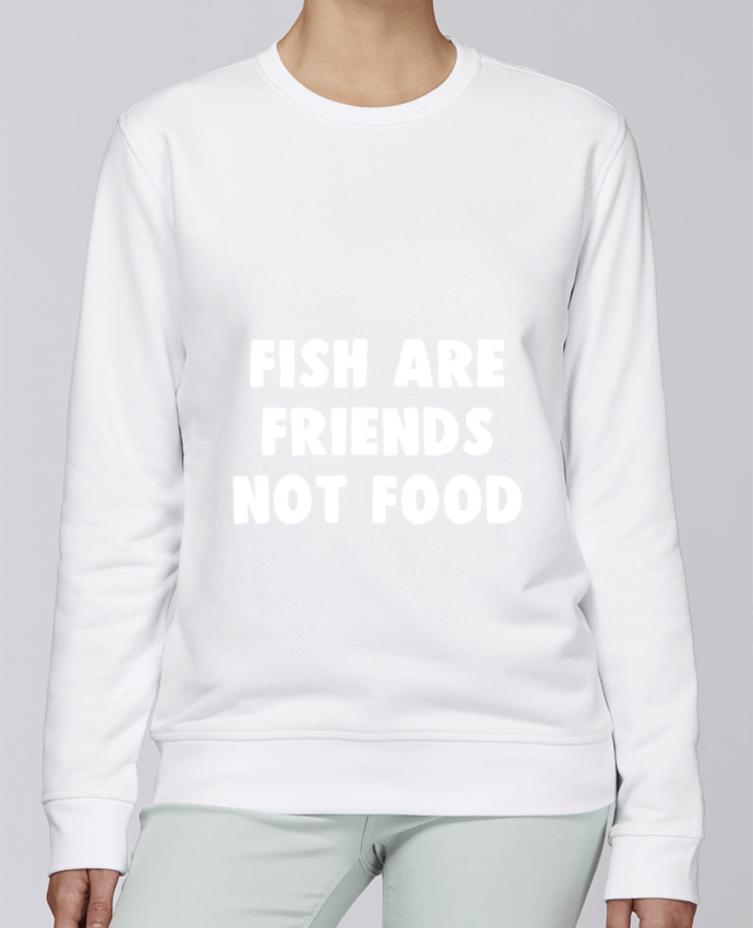 Sudadera básica manga pegada unisexo Stanley Stella Rise Fish are firends not food por Bichette