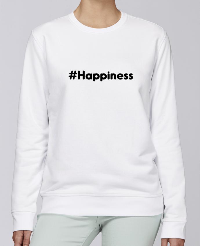 Sudadera básica manga pegada unisexo Stanley Stella Rise #Happiness por tunetoo