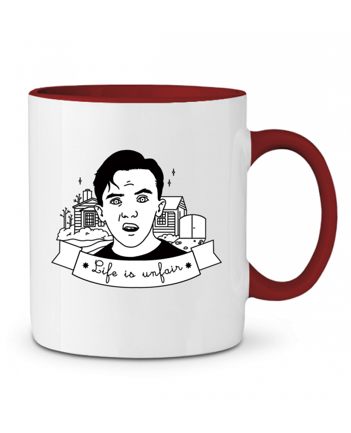 Taza Cerámica Bicolor Malcolm in the middle tattooanshort