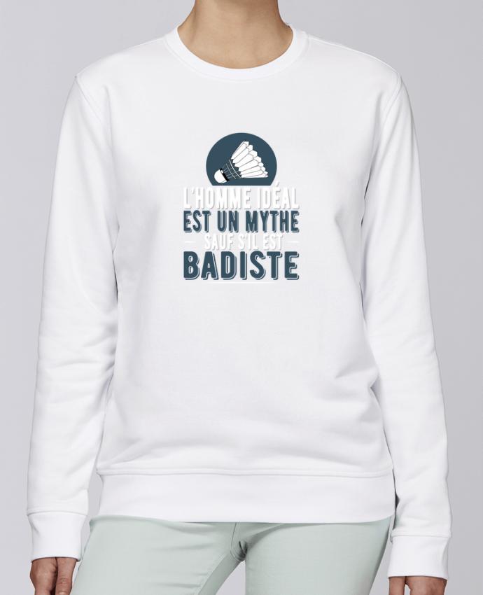 Sudadera básica manga pegada unisexo Stanley Stella Rise Homme Badiste Badminton por Original t-shirt