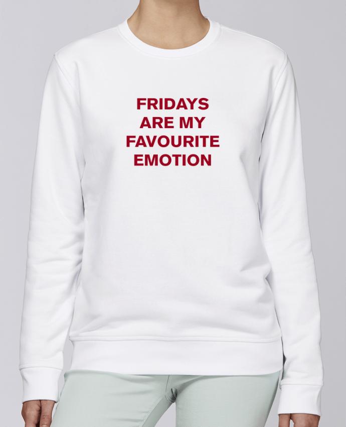 Sudadera básica manga pegada unisexo Stanley Stella Rise Fridays are my favourite emotion por tunetoo