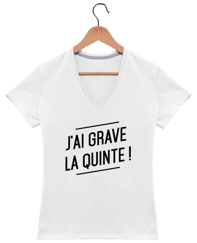Camiseta Mujer Cuello en V La quinte ! por tunetoo