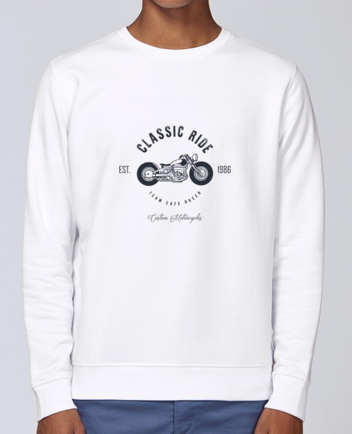 Sudadera básica manga pegada unisexo Stanley Stella Rise Classic Ride Motorcycles por AB