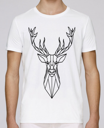 Camiseta Cuello Redondo Stanley Leads Cerf polygonal-Animal por Atomic-Print