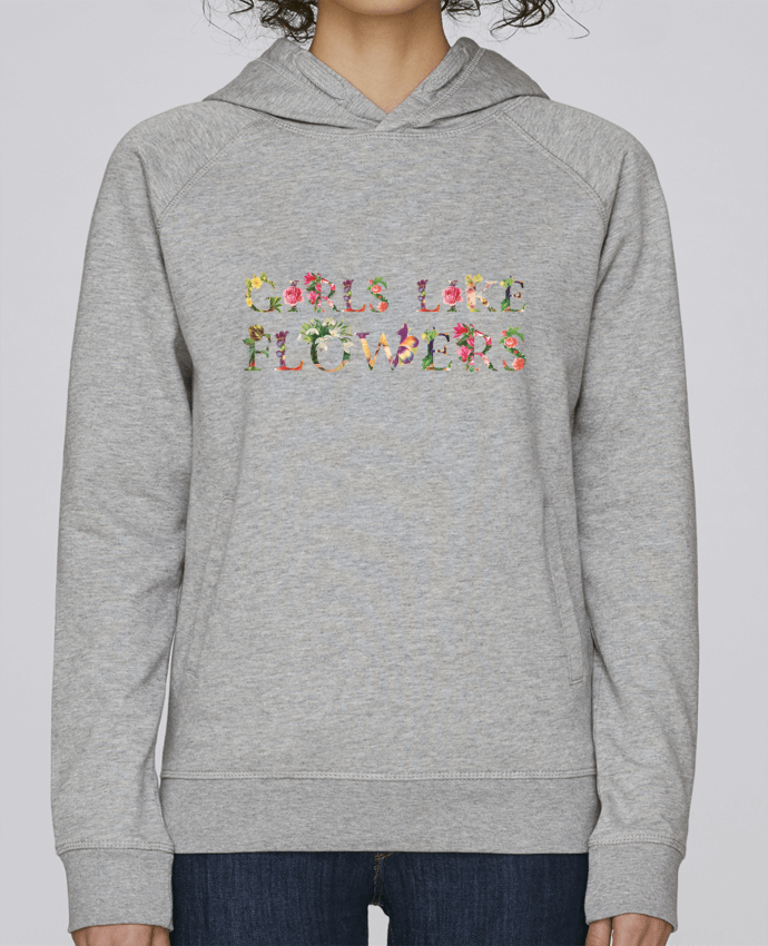 Sudadera Hombre Capucha Stanley Base Girls like flowers por tunetoo