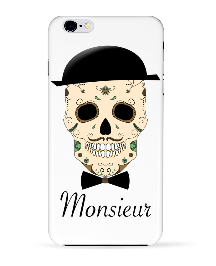 Carcasa Iphone 6+ Calavera Monsieur de Mx ARTificiel