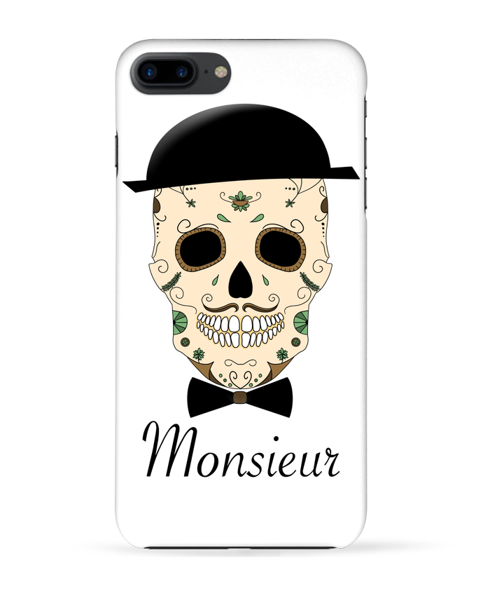Carcasa Iphone 7+ Calavera Monsieur por Mx ARTificiel