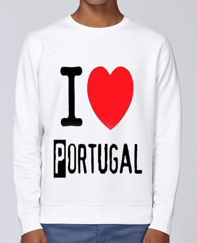 Sudadera básica manga pegada unisexo Stanley Stella Rise I Love Portugal por jameslebavard