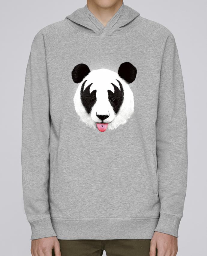 Sudadera Hombre Capucha Stanley Base Kiss of a panda por robertfarkas