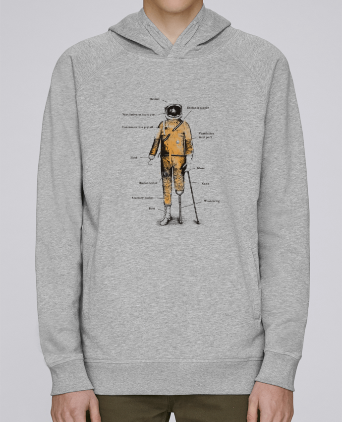 Sudadera Hombre Capucha Stanley Base Astropirate with text por Florent Bodart