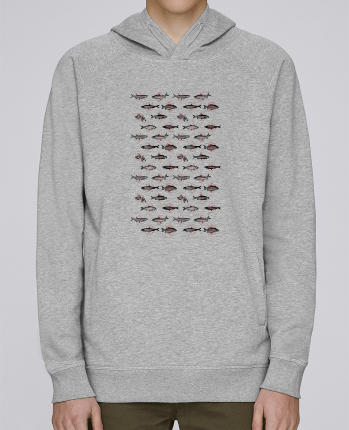 Sudadera Hombre Capucha Stanley Base Fishes in geometrics por Florent Bodart