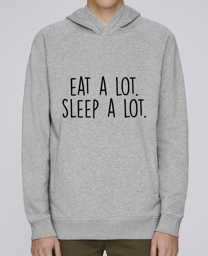 Sudadera Hombre Capucha Stanley Base Eat a lot. Sleep a lot. por Bichette